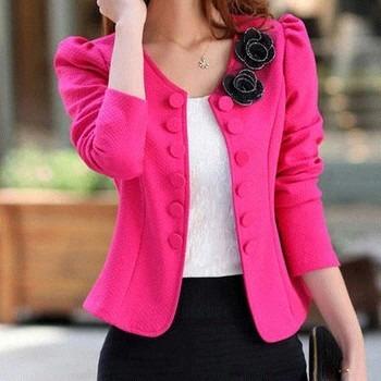 e51f957c26 feminino casaco blazer · blazer feminino manga longa lindo casaco jaqueta  terninho
