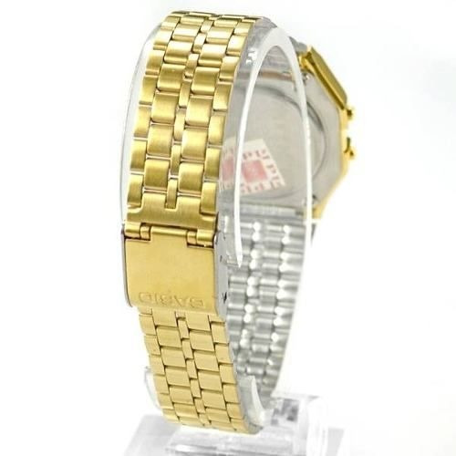 e8eb8569bbb feminino casio relógio 4 relógio feminino casio digital dourado  la680wga-1df 28mm