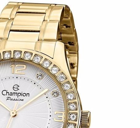 f52355d7059 Relógio Feminino Champion Dourado Cn29187h Original - R  219