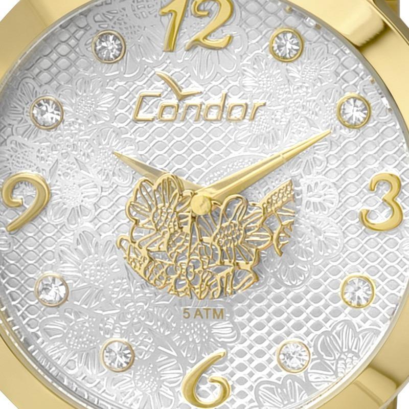 970d36b4c51 Relógio Feminino Condor Renda Dourado C  Strass -co2036dh 4b - R ...