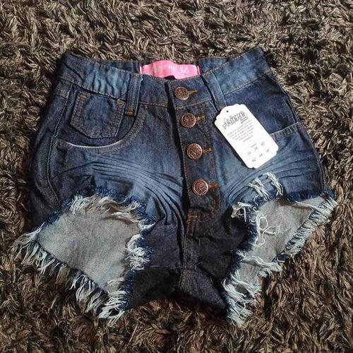 feminino destroyed shorts jeans