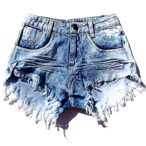 feminino destroyed shorts jeans