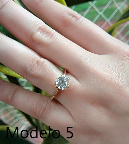 feminino joia ouro anel solitário