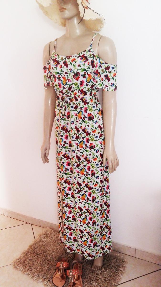 c69c75d159 Vestido Feminino Longo De Viscose C  Fenda Plus Size - R  80