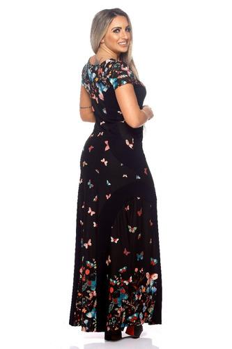 feminino longo vestido