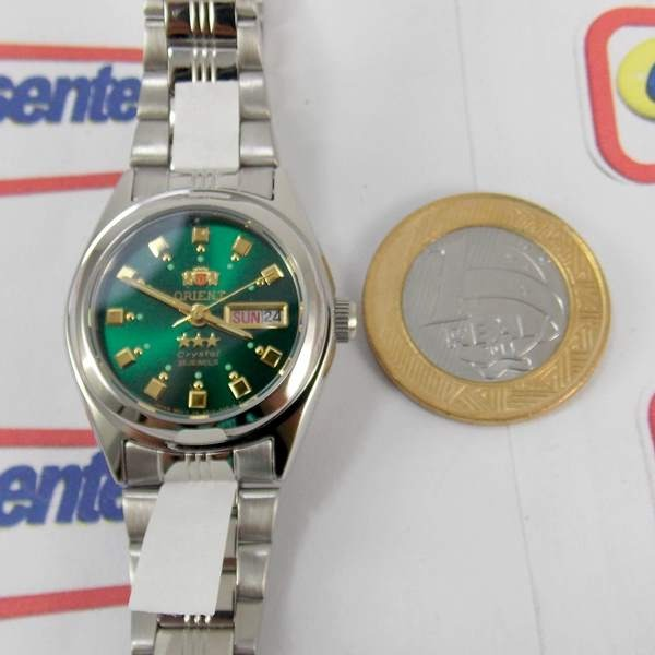 3a75a80b8cf Relógio Orient Automatico Feminino Mini Autêntico Fnq1x003f9 - R ...