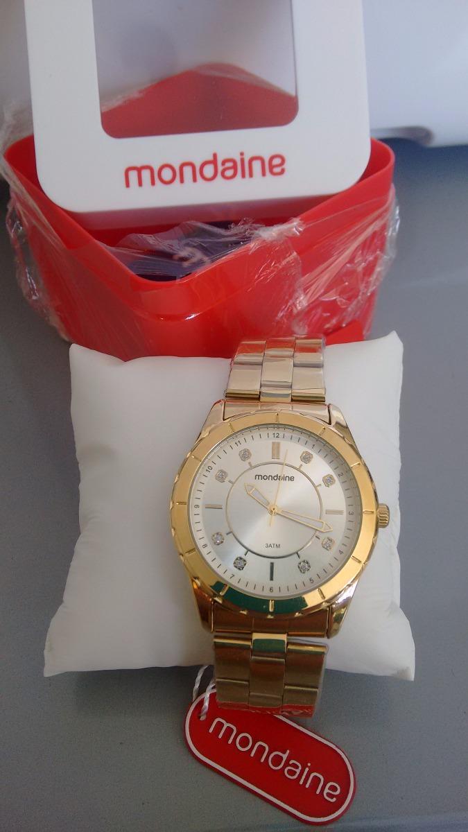 bed43152564 Lindo Relógio Feminino Mondaine De Luxo Caixa De 4 Cm - R  149