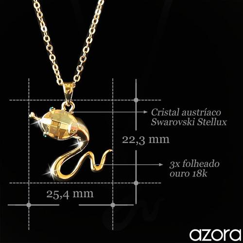 feminino ouro colar