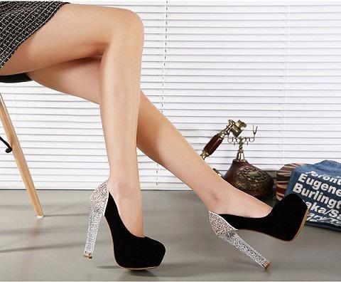 0c388eb30d feminino plataforma sapato · sapato feminino plataforma salto alto quadrado  glitter preto
