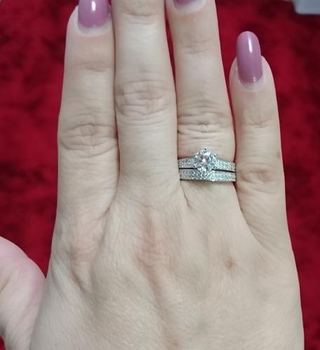 feminino prata anel solitario