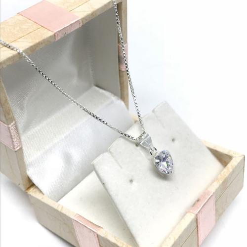 feminino prata colar