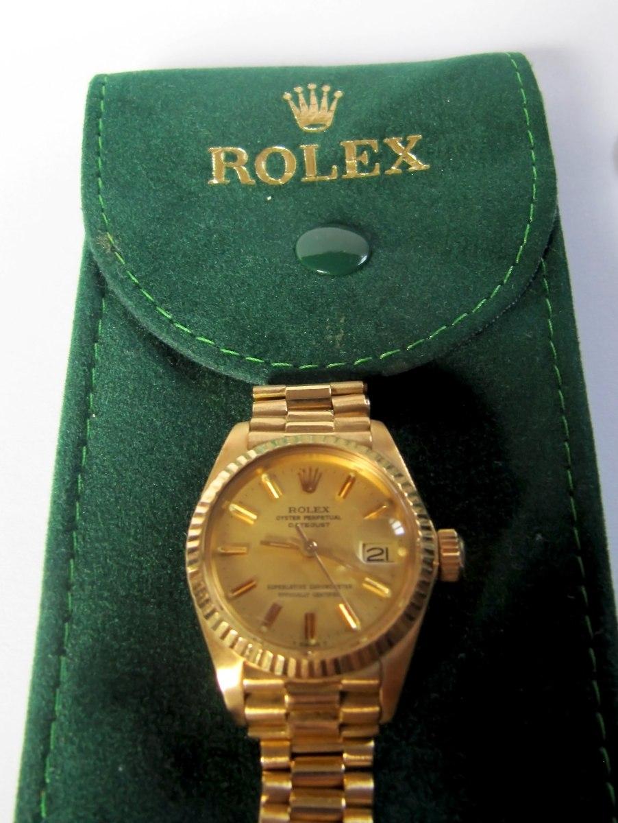 ef27792a496 Relógio Rolex Feminino Ouro 18k Puls. Presidente Automático - R ...