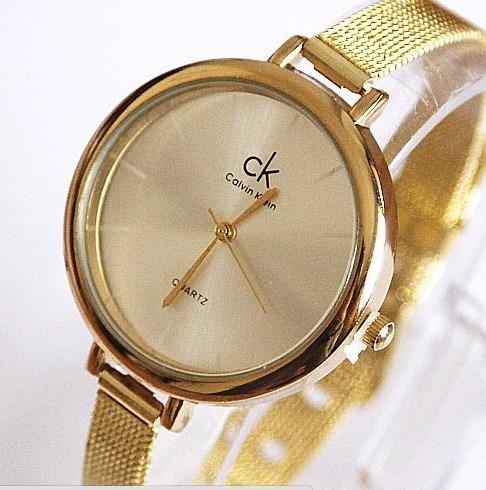 88ee835f954 ... caixa redonda dourado ck · relógio feminino pulso · feminino pulso  relógio