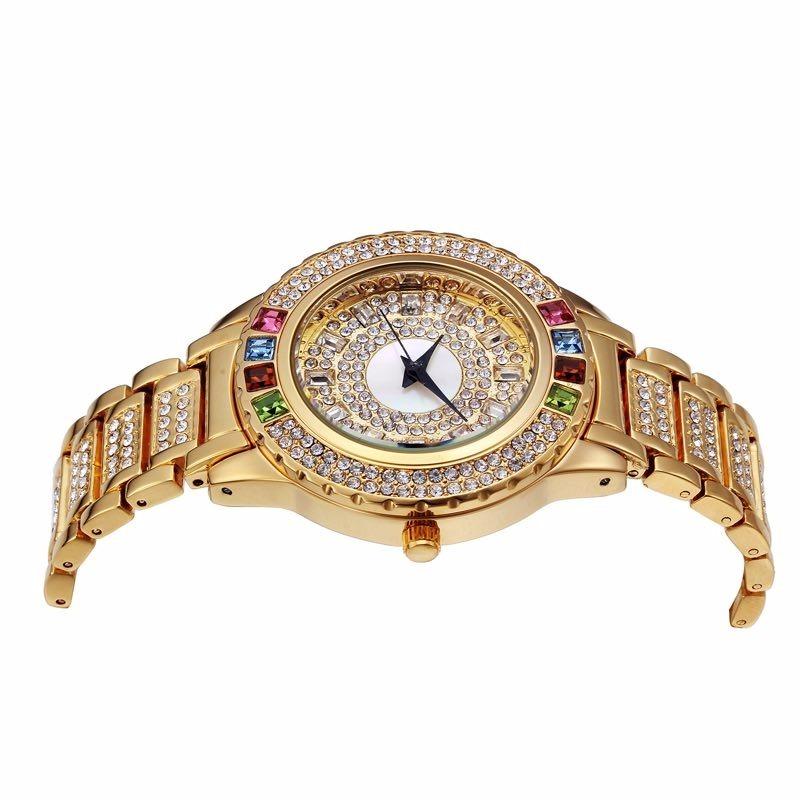 5744aa2bda9 Carregando zoom... relógio feminino pulso comprar quartz prata cristais  barato