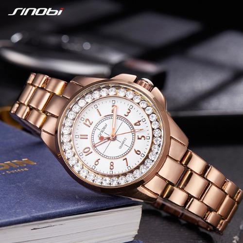 88c0923e14e ... sinobi dourado ouro aço inoxidável · relógio feminino pulso · feminino  pulso relógio