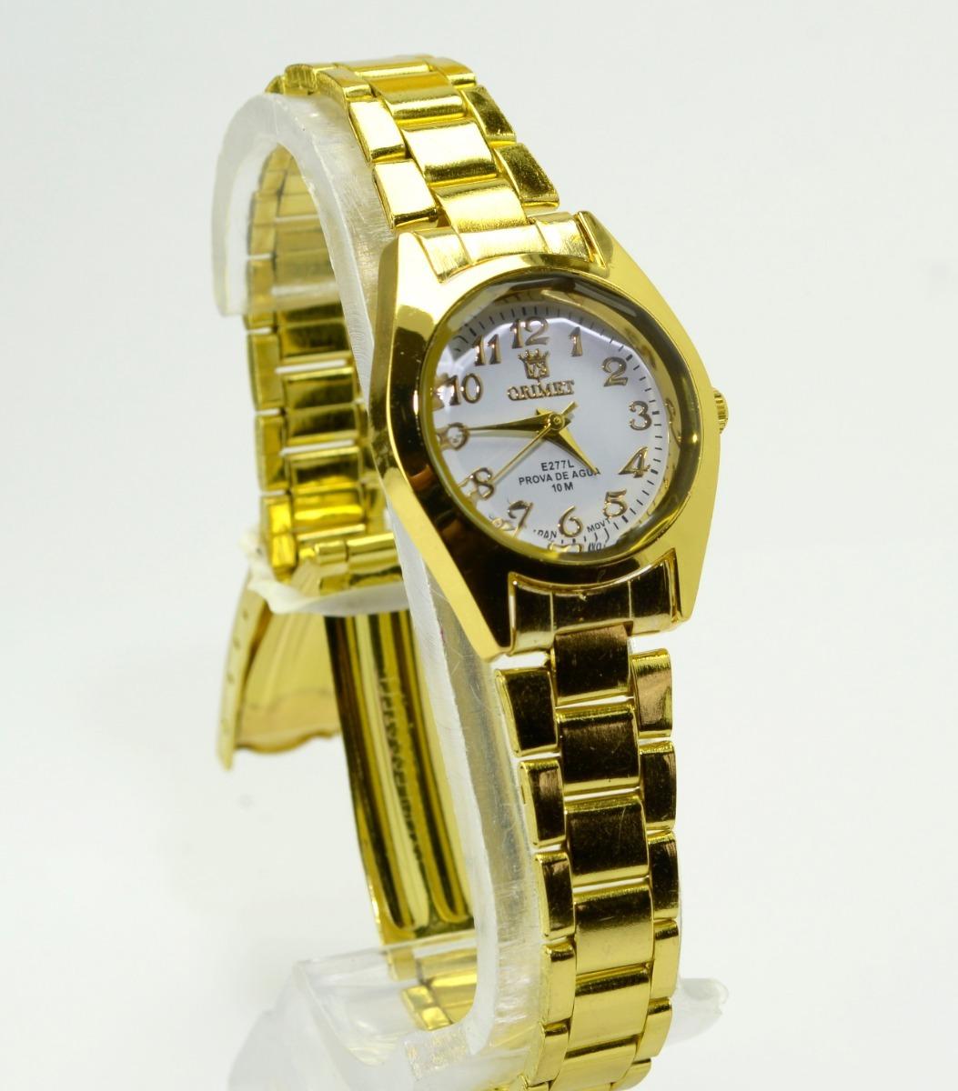 b07fb1e80b7 Relógio Feminino De Pulso Dourado Resistente Orinet Pequeno. - R  32 ...