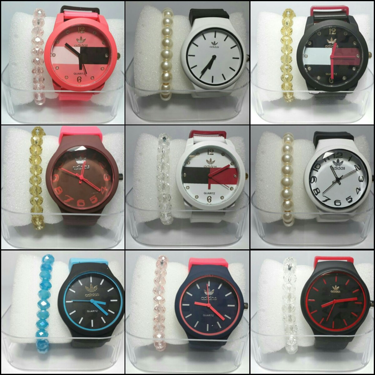bf08cccbd11 Relógio adidas Feminino 10 Relógios 10 Caixas 10 Pulseira - R  189 ...