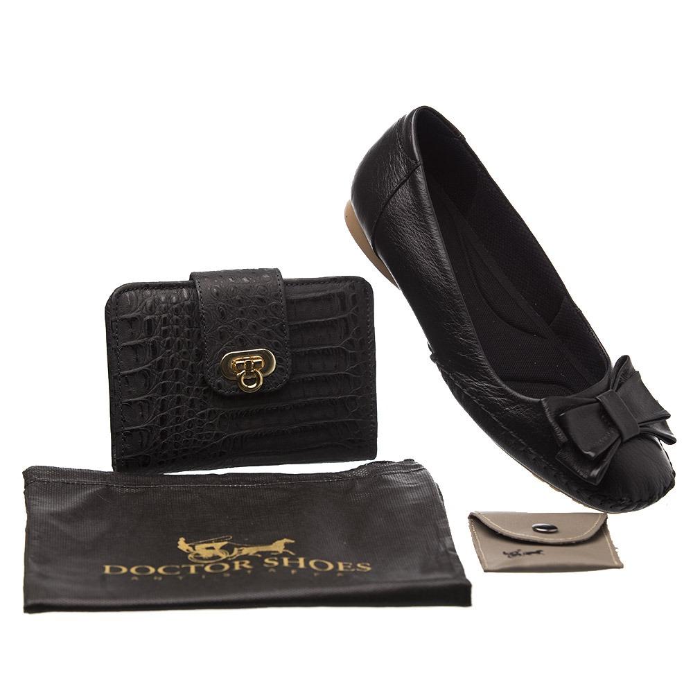 c05eeeb52 Kit Feminino Sapatilha 2778 Preta + Carteira + Porta Sapato - R$ 299 ...