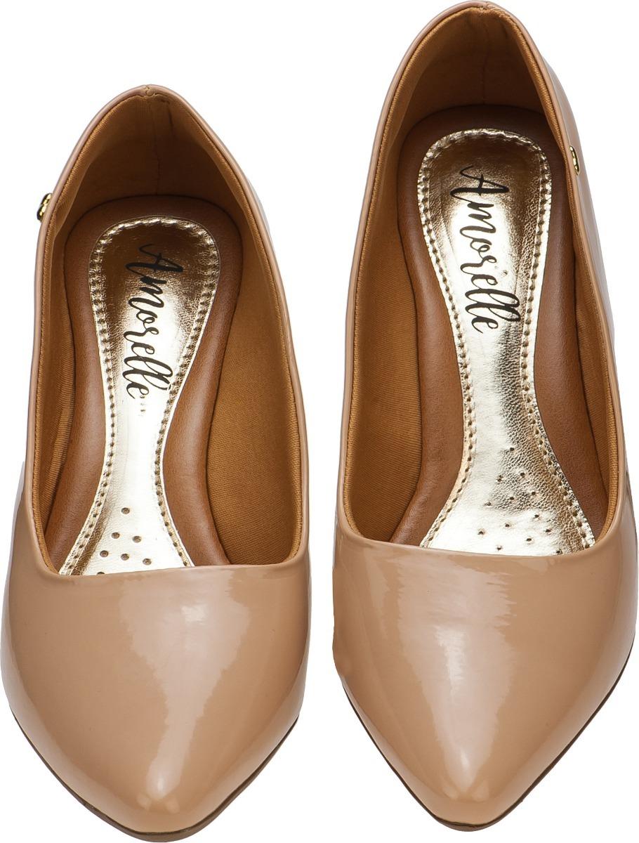 7654d5f450 Carregando zoom... sapato feminino scarpin salto baixo grosso confort ...