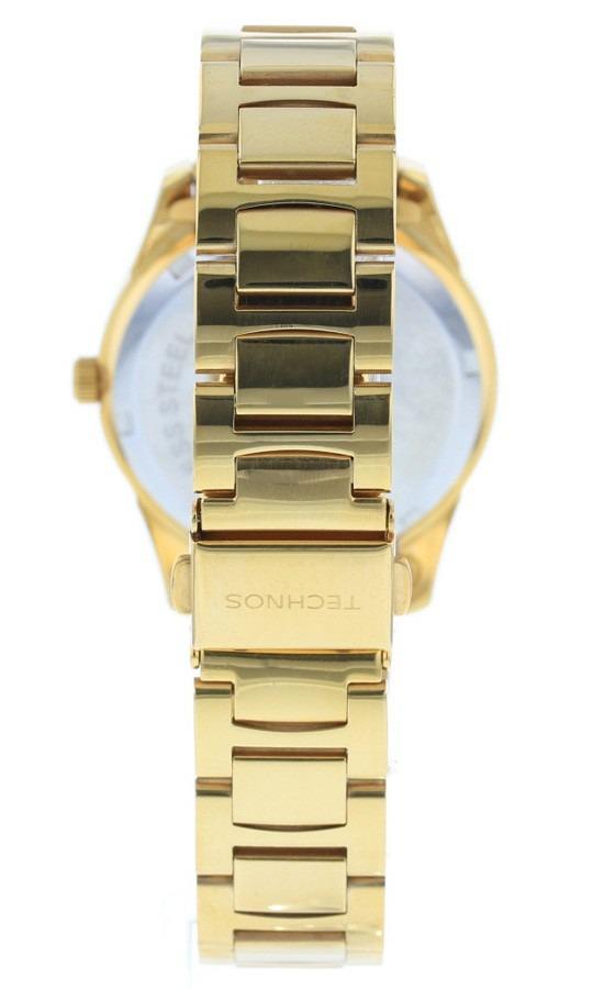 2f22f4722b4 Carregando zoom... relógio feminino technos dourado com pedras ...