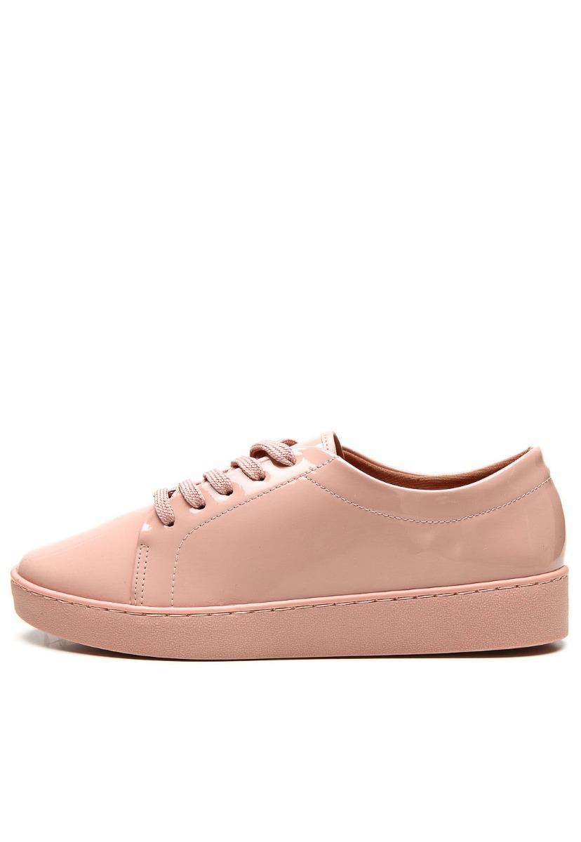 08f6464b3 Carregando zoom... tênis feminino vizzano rosa nude verniz moda lançamento