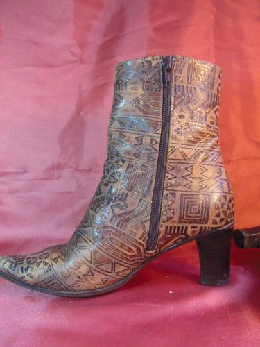 femme botas de vestir de cuero febo taco de 6,5cm   z01 02