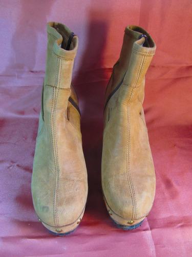 femme botas miss coca taco zueco madera 10cm    z01 00