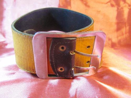 femme cinturon ancho marron oscuro de cuero 99cm  27511