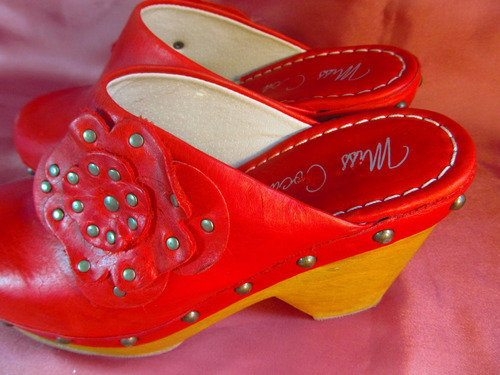 femme zuecos zapatos miss coca taco 10cm con flor    z01 01