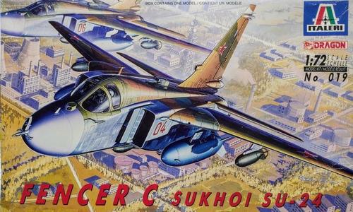 fencer c sukhoi su-24 escala 1/72 italeri 019