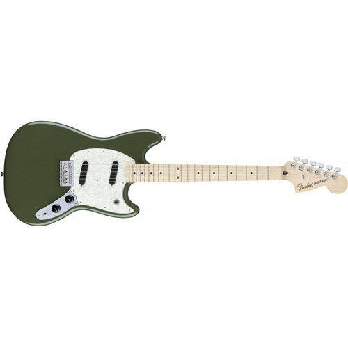 fender mustang offset series olive bundle mx - soundgroup