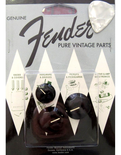 fender perillas plásticas fender para potenciómetros jazz