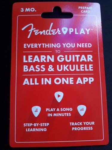 fender play clases de guitarra por 3 meses