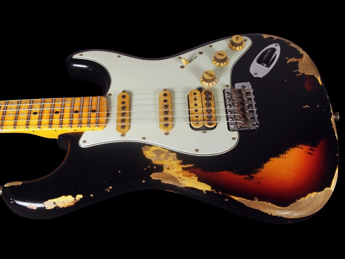 dbb6db931e9 Fender Stratocaster Custom Shop Black Lightning Hss Relic - R ...