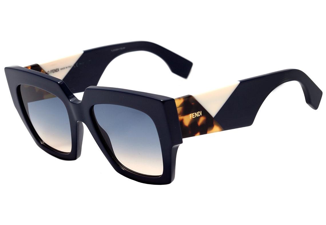 6077203dd fendi facets ff 0263 s - óculos de sol pjp i4 azul brilho/. Carregando zoom.