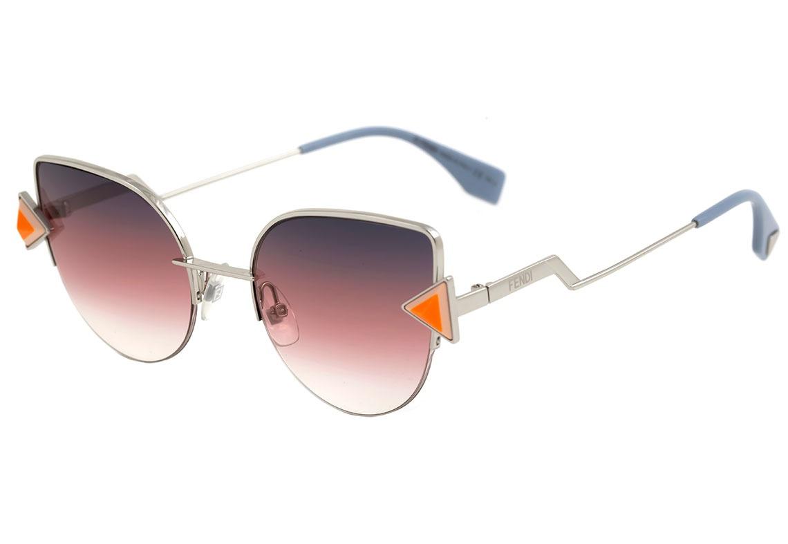 0d478f00b110b fendi ff 0242 s - óculos de sol tjv ff prata brilho  roxo. Carregando zoom.