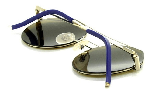 fendi ff m0042/s j5g 70 54 - azul-dourado/marrom