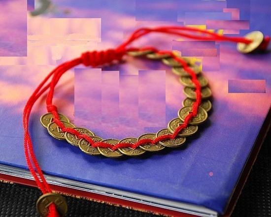 Feng shui pulsera prosperidad roja con monedas - Feng shui prosperidad ...