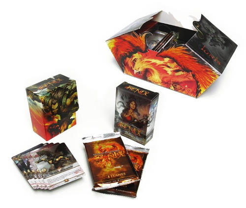 fenix mazo + 2 sobres expansion + cartas + portamazo nuevo