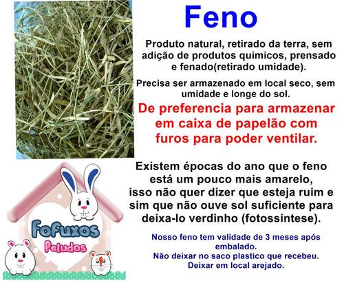 feno coast cross premium  para coelhos e porquinhos da india