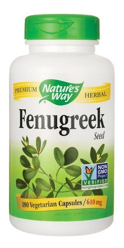 fenogreco (fenugreek) 610mg. e e. u u. 180 cápsulas - oferta