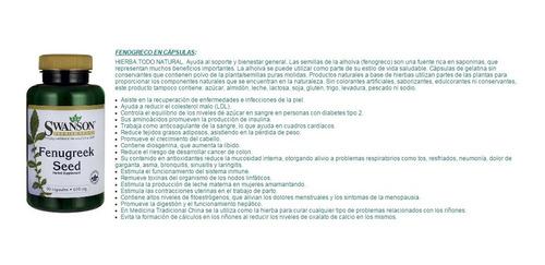 fenugreek (fenogreco) americano 610mg de 90/100 cápsulas