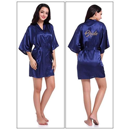 feoya para mujer traje de kimono seda corta