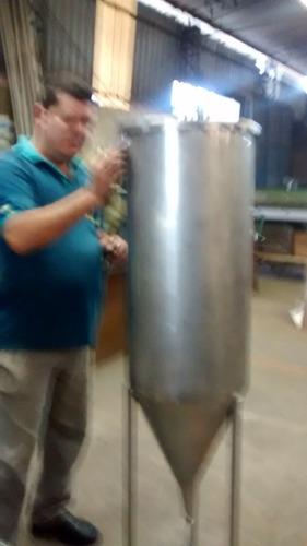 fermentador inox pólido para  frizer  ou  geladeira 100 lts