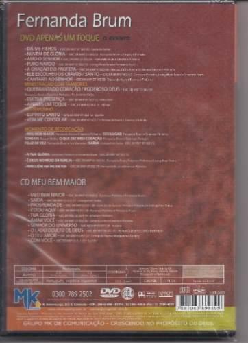 dvd fernanda brum apenas um toque para