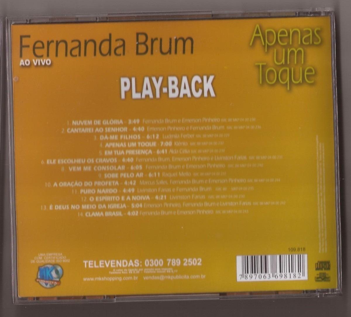 cd de fernanda brum apenas um toque playback