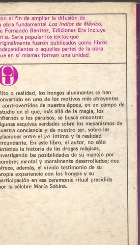 fernando benítez, los hongos alucinantes, era,1979, 126 p.