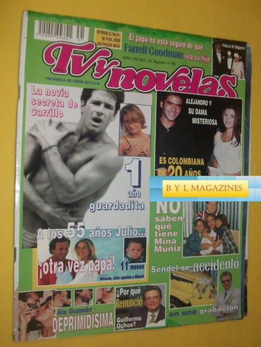 fernando carrillo revista tv y novelas 98 victoria ruffo