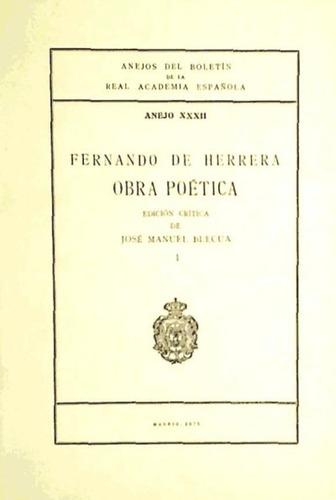 fernando de herrera: obra poética(libro poesía)