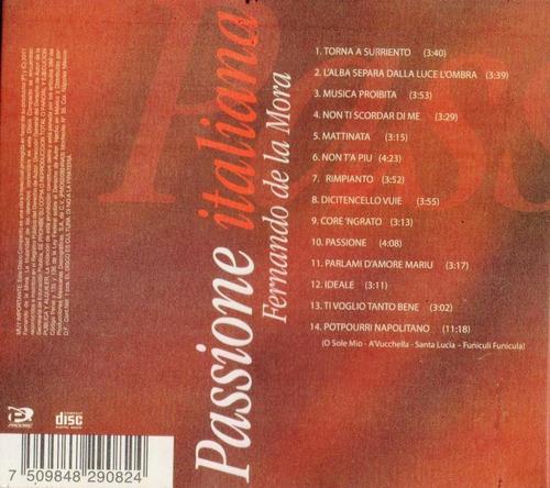 fernando de la mora passione italiana disco cd